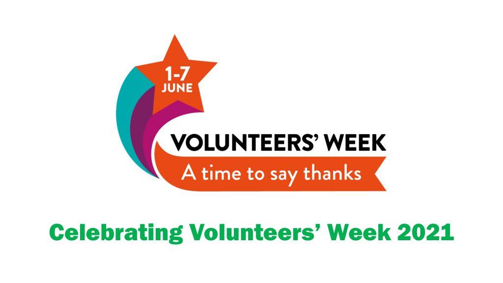 Volunteers Week logo with the caption 'Celebrating Volunteers' Week 2021'